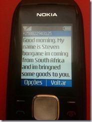 Steven Bongane SMS photo