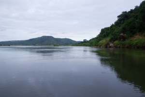 View from the proposed dam site